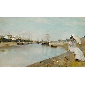 The Harbor at Lorient,Berthe Morisot,60x40cm
