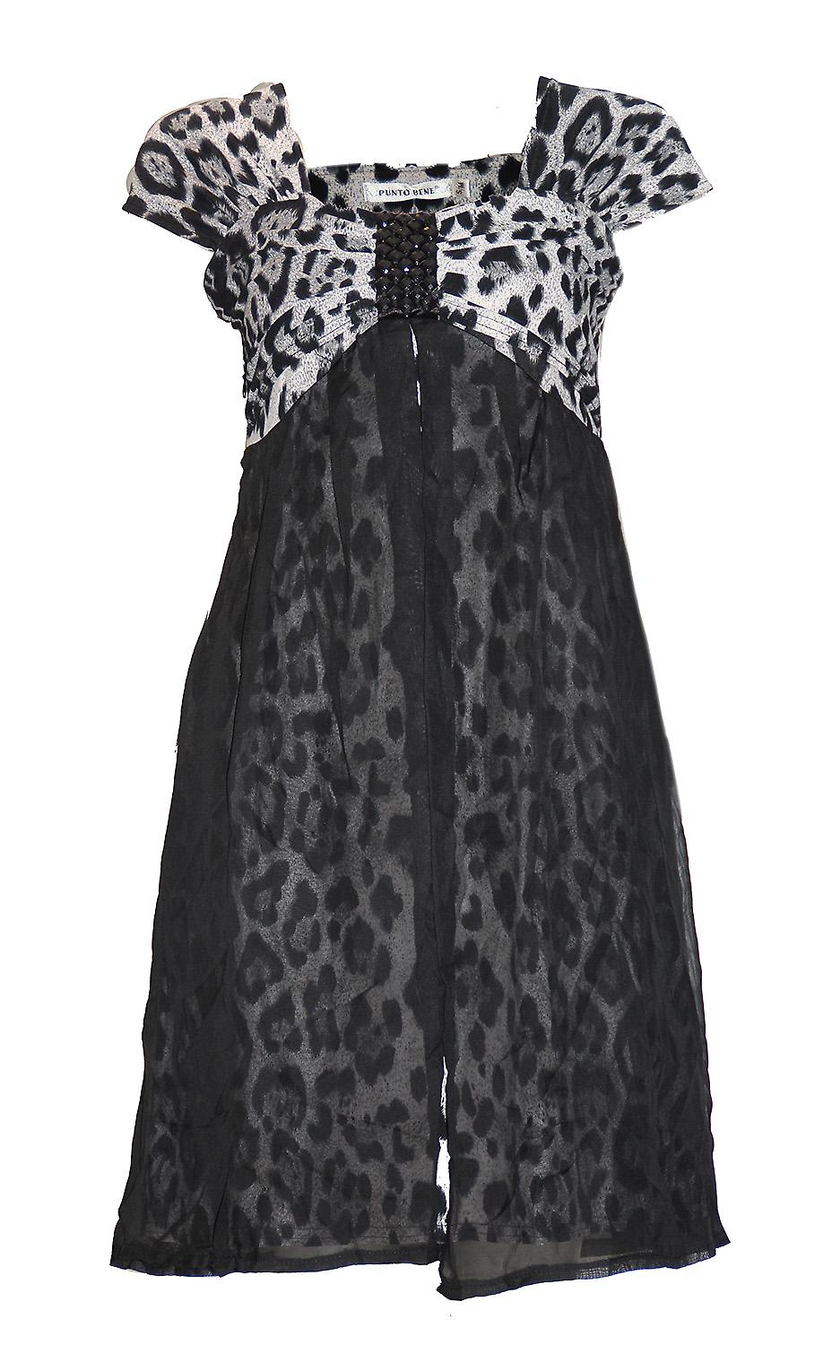 Waooh - Fashion - dress and leopard print lining veil
