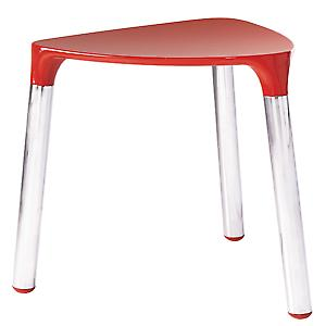 Gedy Yannis Stool Red Chrome 2172 06