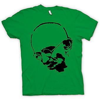 Womens T-shirt - Ghandi - Indian - Hippie - Frieden