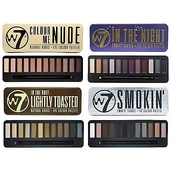 W7 Eyeshadow Palette Collection Includes Lightly Toasted, Colour Me Nude, In the Night & Smokin Shades
