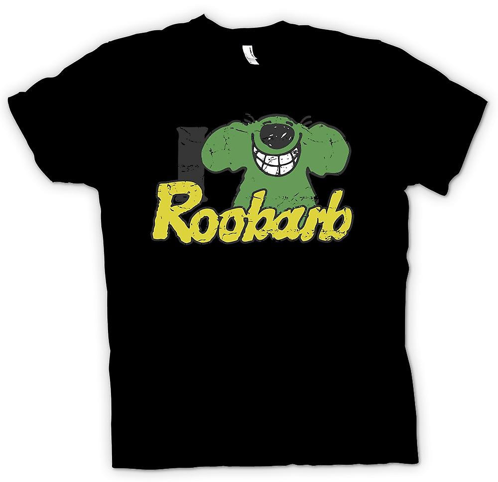 Mens T-shirt - I Love Roobarb - Roobarb and Custard Inspired