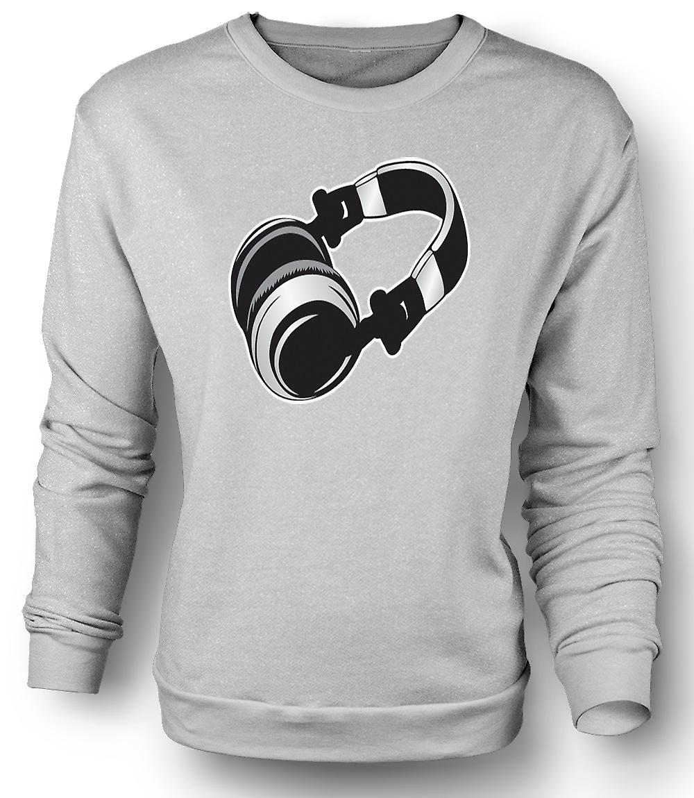 Mens Sweatshirt DJ casque Old School