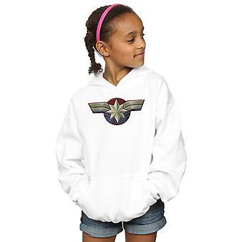 Marvel Mädchen Captain Marvel Brust Emblem Hoodie
