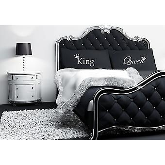 King and Queen Crown Black Pillowcases