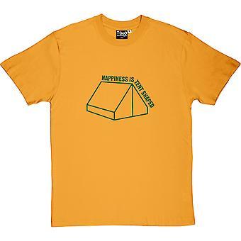 Szczęście jest namiot w kształcie T-Shirt męski