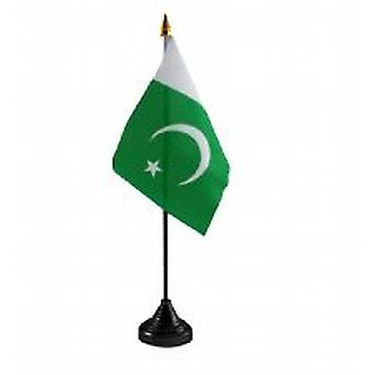 Pakistan Table Flag with Stick and Base