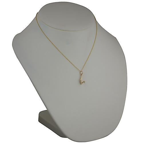 9ct Gold 22x10mm Sarvangasana Yoga Position Pendant with a cable Chain 18 inches