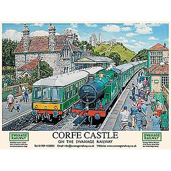 Corfe Castle, Swanage Railway, Small Metal Sign 200mm x 150mm (og)