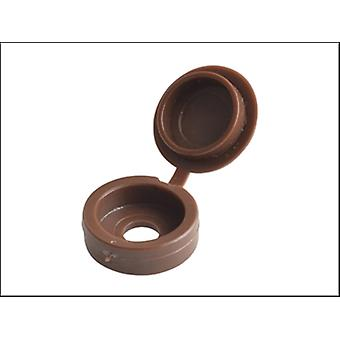 Forgefix Hinged Cover Cap Dark Brown No. 10-12 Bag 100