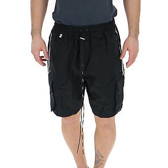 Represent Black Polyester Shorts