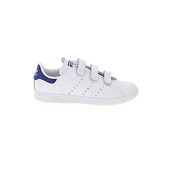Adidas White/blue Leather Sneakers