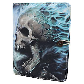 Spiral direkt gotiska flammande RYGGRADEN - iPad Air Folio Case + Stand| AlloverPrint| Skeleton| Flames| Tribal