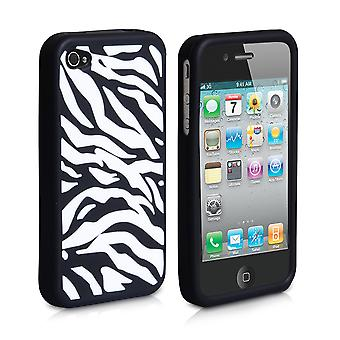 YouSave Accessories iPhone 4 4S Gel Case Zebra Stripe