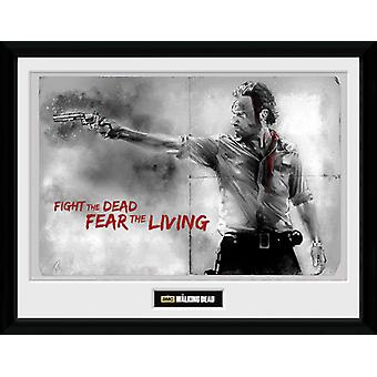 The Walking Dead Rick Framed Collector Print 40x30cm