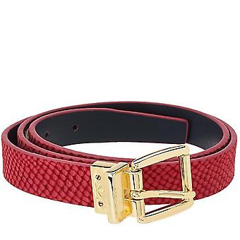Isaac Mizrahi Live! Reversible Leather Strap Belt XS S Orchid Navy A264211