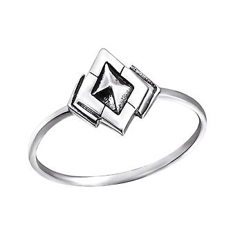 Diamant - 925 Sterling Silber Plain Ringe - W24603X