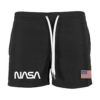 Mister Tee NASA Worm Logo Swim Shorts Swim Shorts