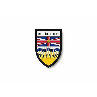 Patch Ecusson Termocollant Brode Drapeau Imprime Canada Colombie Britannique