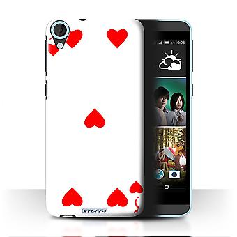 STUFF4 Case/Cover for HTC Desire 820G+ Dual/5 of Hearts/Playing Cards