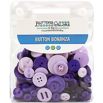 Button Bonanza .5lb Assorted Buttons-Purple Passion BB-10