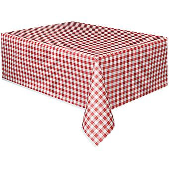 Gingham Printed Tablecover 54