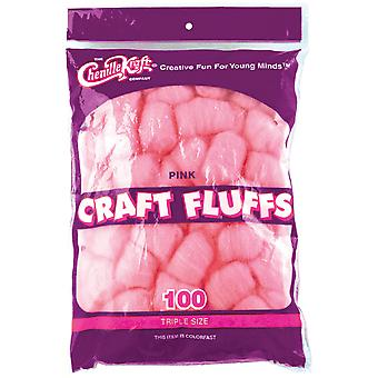 Craft Fluffs 4Oz Bag 100 Pkg Pink Fluff4oz 6402