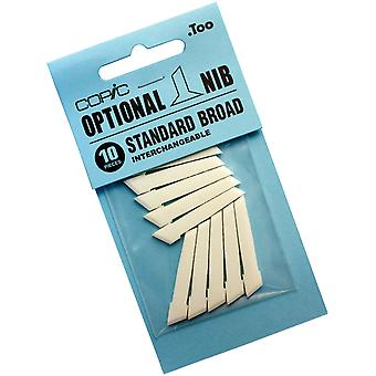 Copic Original Standard Broad Nibs 10 Pkg Stdbrdn