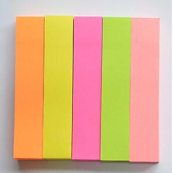 Huskeseddel flytbare, assorteret farve Self selvklæbende 3 i x 0,6 i Pack 500 ark