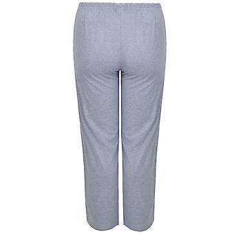 Grey Marl Plain Pyjama Bottoms
