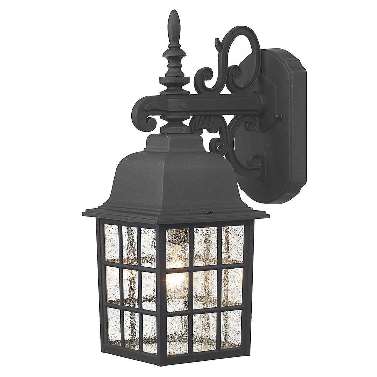 Dar NOR1522 Norfolk Wall Bracket Down Light Black