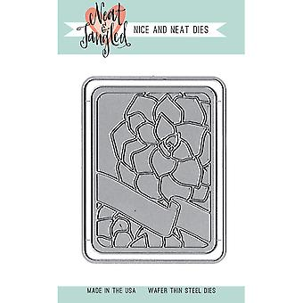 Neat & Tangled Die-Succulent Journaling Card NAT181