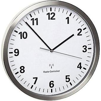 Radio Wall clock TFA 60.3523.02 30.5 cm x 4.3 cm Stainless steel