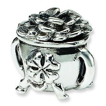 Sterling Silber Reflexionen Pot of Gold Bead Charm