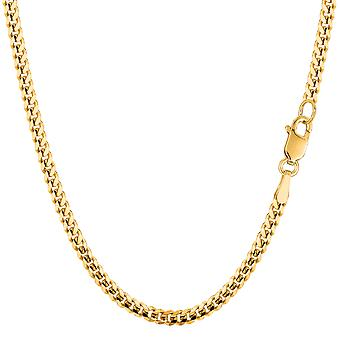 14k Yellow Gold Gourmette Chain Necklace, 3.0mm