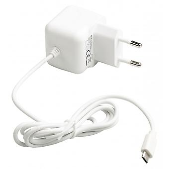 ValueLine AC charger with micro USB connector, micro USB male-AC-contact for home 1.00 m, white 2 (1)