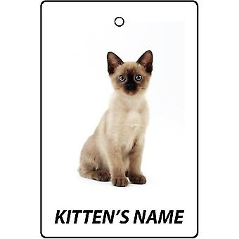 Personalised Tonkinese Kitten Car Air Freshener