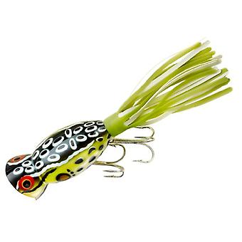 Arbogast Hula Popper 5/8 oz Fishing Lure - Cricket Frog