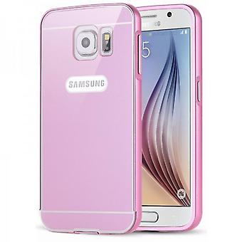 Aluminium bumper 2 pieces with cover Pink for Samsung Galaxy S6 G920 G920F
