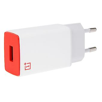 OnePlus one two three EU charger AY0520 2A red white