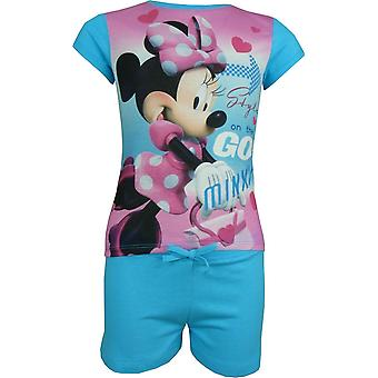 Piger Disney Minnie Mouse 2 stykke sæt kortærmet T-Shirt & Shorts