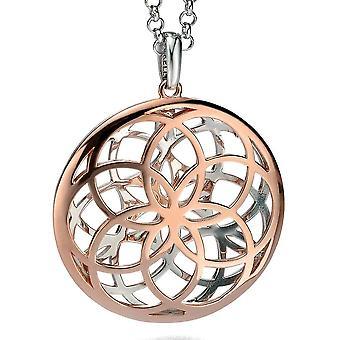925 sølv Rose gull belagt fasjonable halskjede