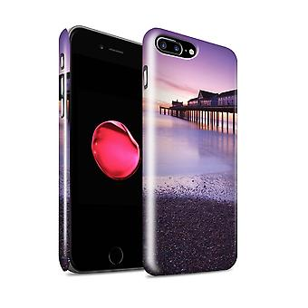 STUFF4 glans tilbake hurtigfeste Telefon etui for Eple iPhone 7 pluss / Sunset Pier Design / engelsk Seaside samling