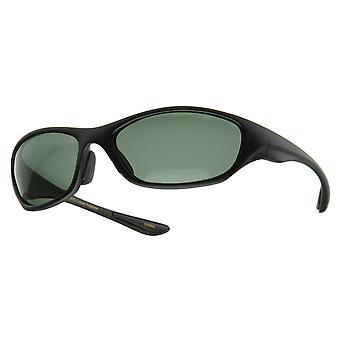 Dunne ovale gepolariseerde sport Wrap zonnebril
