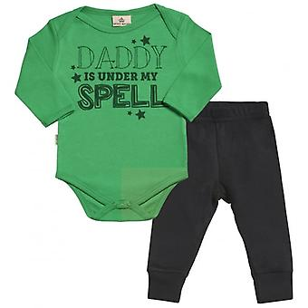 Spoilt Rotten Mummy Under My Spell Babygrow & Baby Jersey Trousers Outfit Set