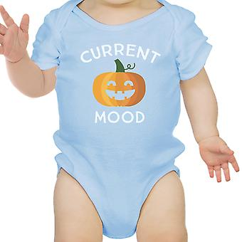 Pumpkin Current Mood Blue Bodysuit Halloween Costume First Halloween