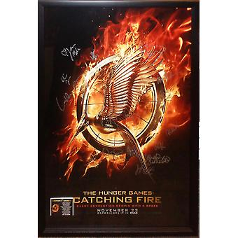 The Hunger Games Catching Fire - Signed Movie Poster