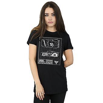 Disney kvinners biler Cruz Ramirez Blueprint kjæreste passer t-skjorte