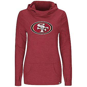 Majestic GREAT PLAY Jersey Hoody - San Francisco 49ers Red