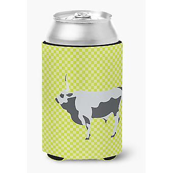 Hungarian Grey Steppe Cow Green Can or Bottle Hugger